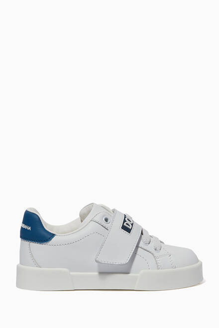 hover state of Portofino Logo Sneakers in Leather