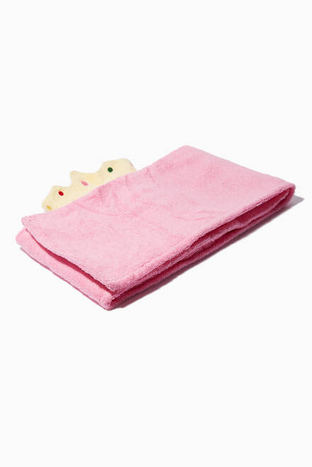 hover state of Princess Pink Hooded Towel