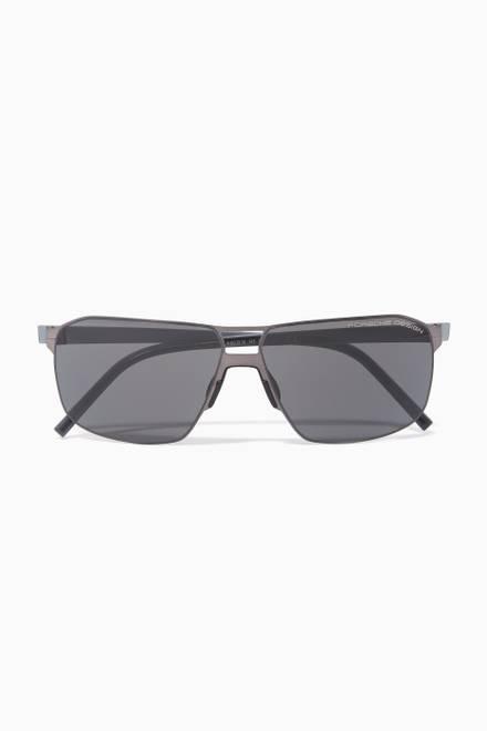 55b4dc758 تسوق نظارة شمسية أفياتور P'8629 Porsche Design أسود للرجال | اُناس