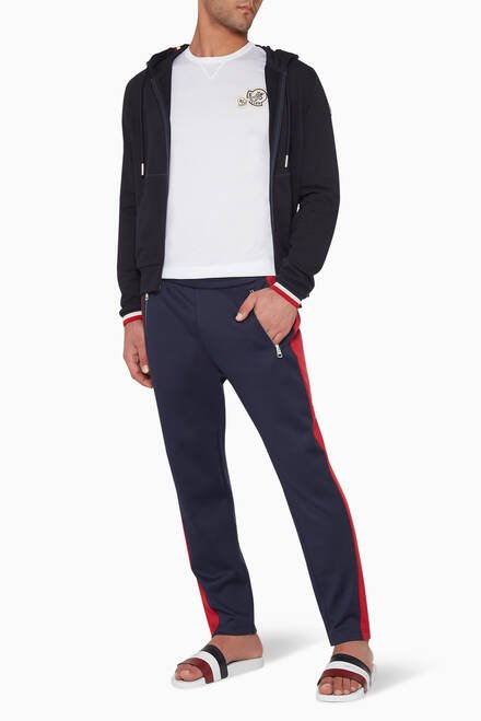 hover state of Contrast-Trimmed Jogging Pants