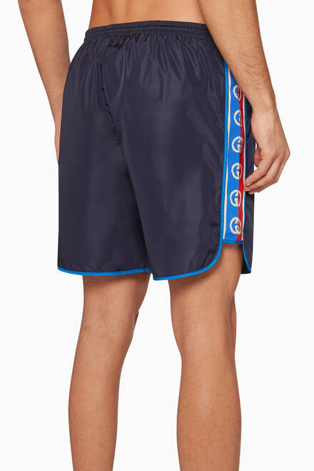 hover state of Logo Ribbon Swim Shorts