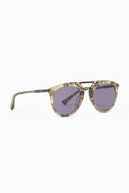 hover state of H.F.S Double Bridge Marble Sunglasses