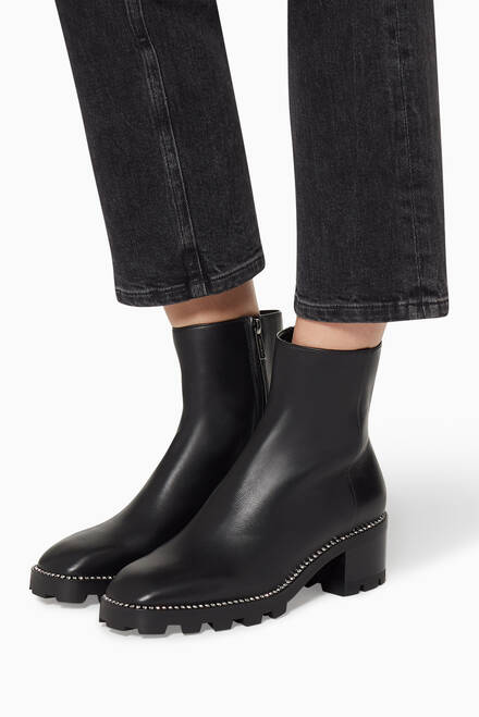 hover state of Mava 35 Smooth Leather Ankle Boots