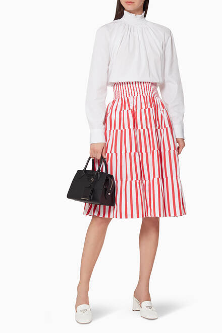 hover state of Striped Cotton Poplin Skirt