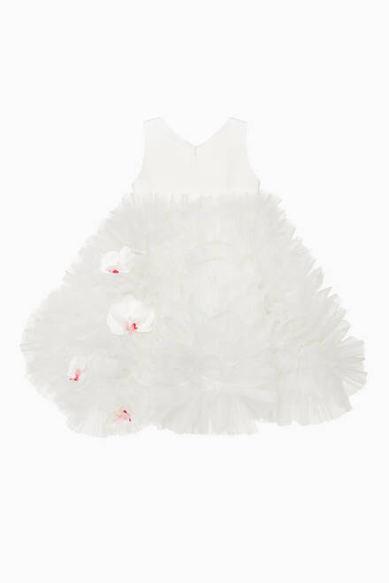 hover state of Sleeveless Tulle Flower Dress