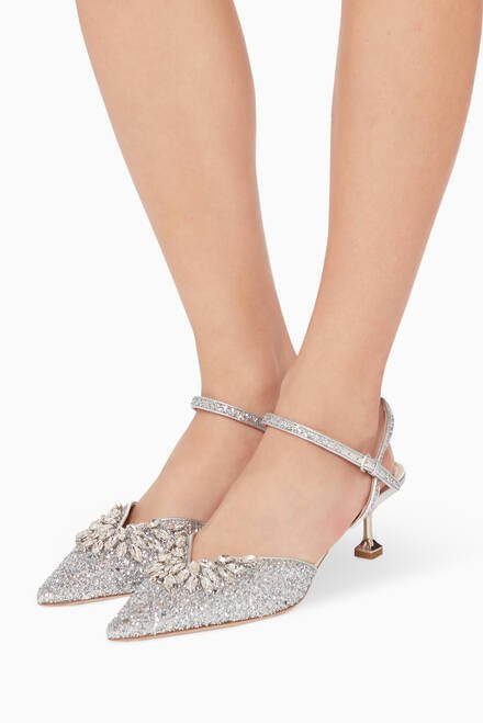 hover state of Brooch Glitter Pumps