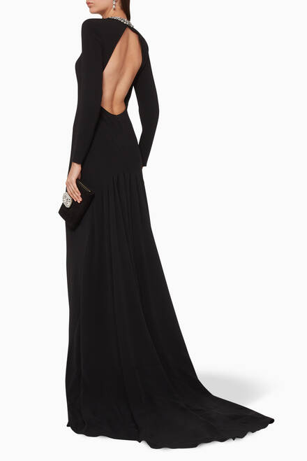 hover state of Karley Embellished Evening Gown