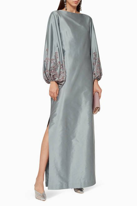 hover state of Embroidered Silk Kaftan