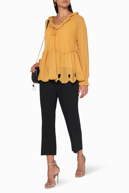 hover state of Ruffled Chiffon Blouse
