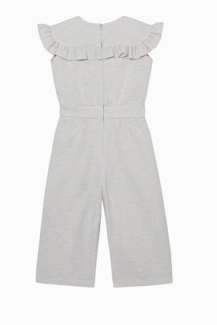 hover state of Ruffled Sleeveless Jumpsuit