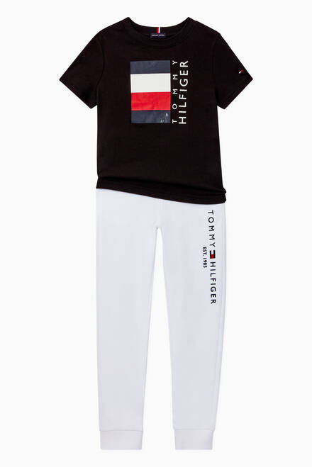 hover state of Logo Essential Cotton Track Pants