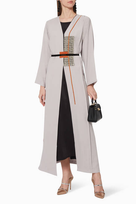 hover state of Tencel Belted Abaya