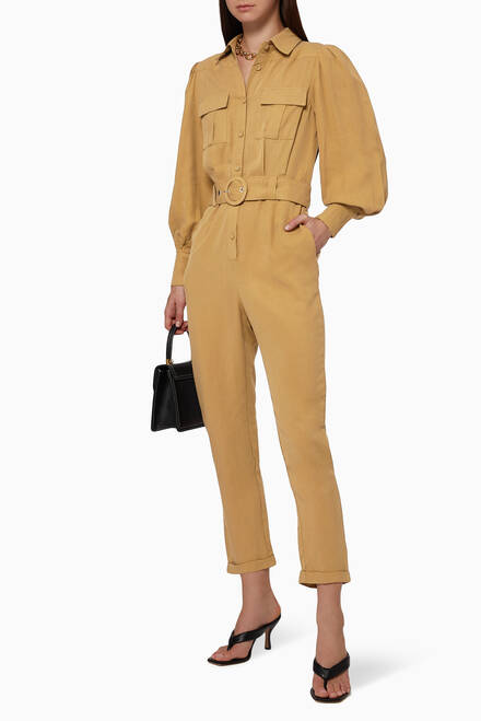 hover state of Illusion Belted Jumpsuit