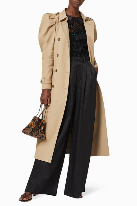 hover state of Gabardine Trench Coat