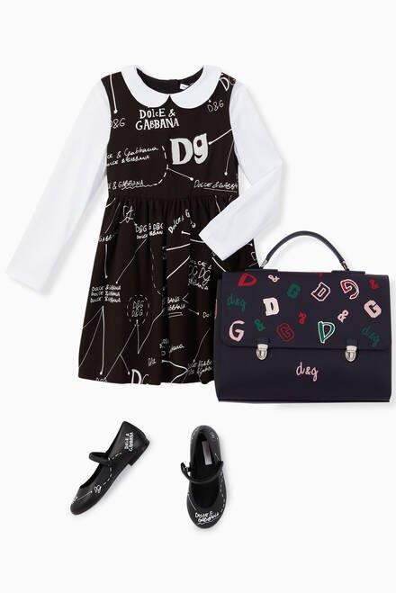 hover state of Logo Lettering Jersey Dress
