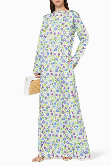 hover state of Katherine Floral Cotton Dress
