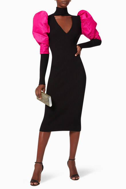 hover state of Christia Ribbed Knit Dress