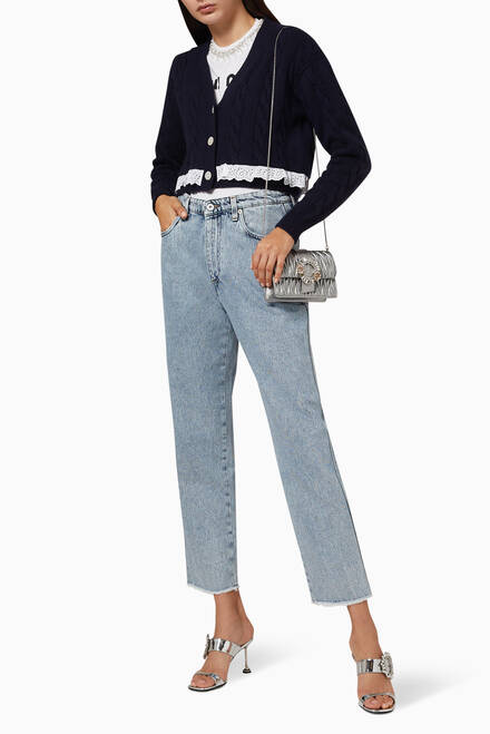 hover state of Cotton Denim Jeans