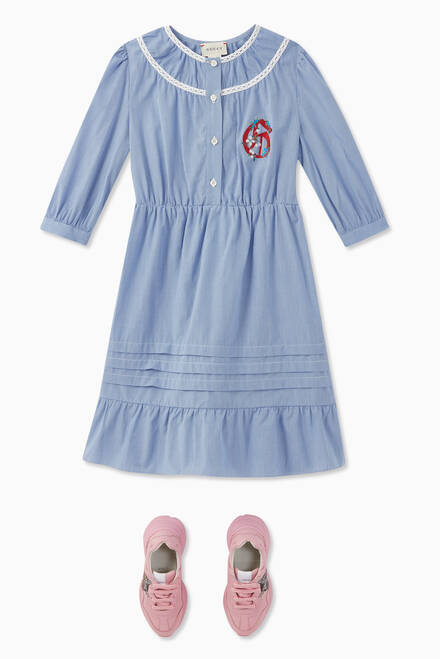 hover state of G Cotton Gingham Dress