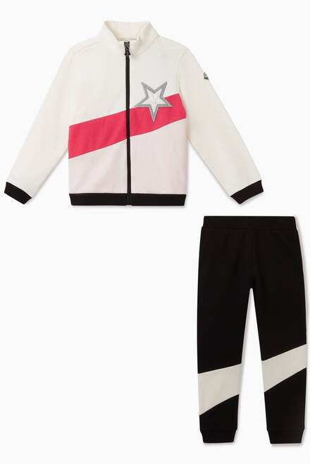 hover state of Colour Blocking Jersey Jogging Suit