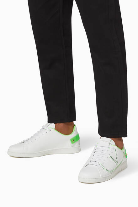 hover state of Valentino Garavani VLOGO Backnet Sneakers in Leather