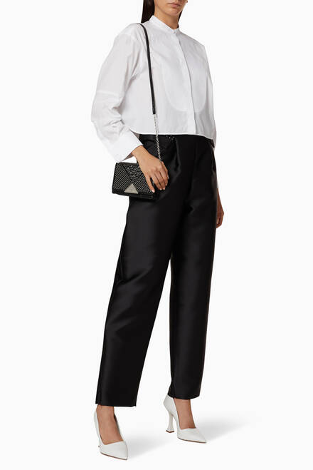 hover state of Guru Collar Cropped Poplin Shirt