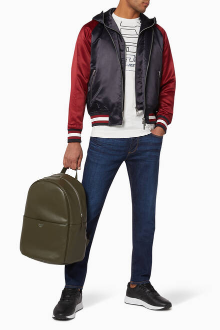 hover state of Generation EA Satin Bomber Jacket