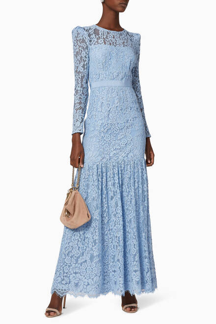 hover state of Corded Lace Maxi Dress