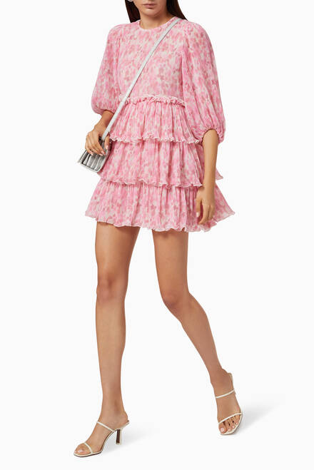 hover state of Pleated Georgette Dress