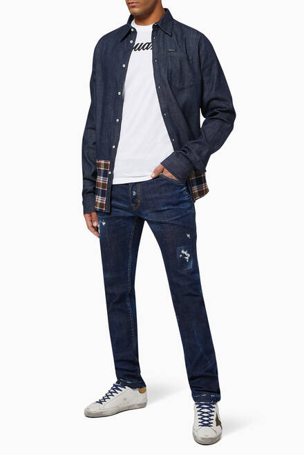 hover state of Checked Sharpei Denim Shirt