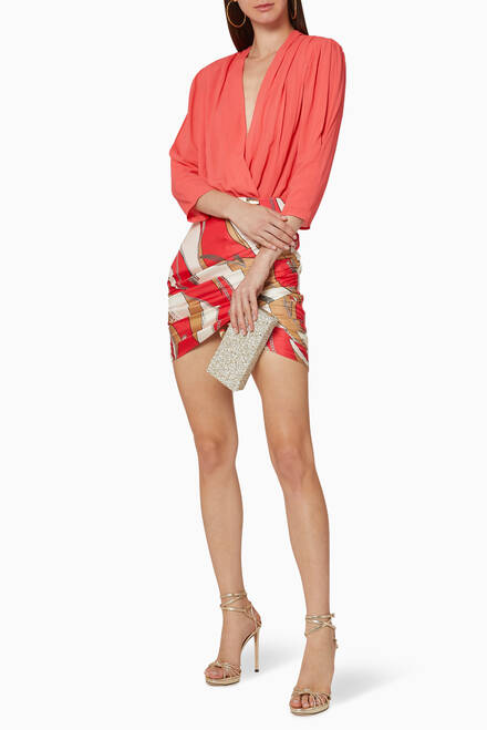 hover state of Chiffon Wrap Bodysuit