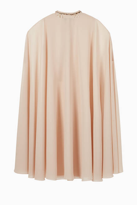 hover state of Embroidered Chiffon Cape
