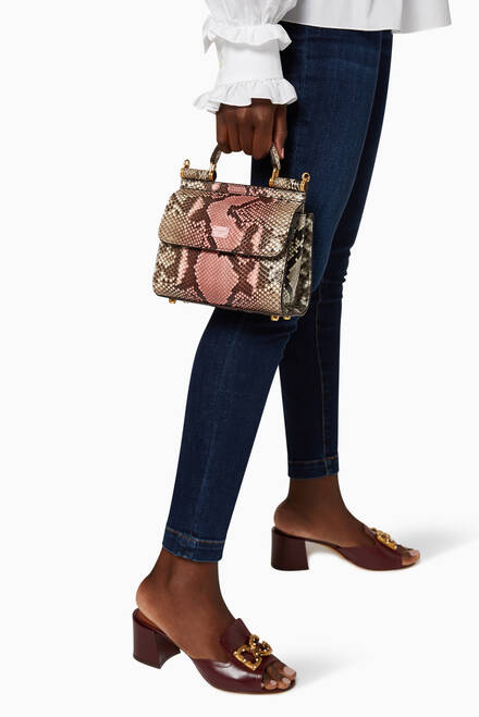 hover state of Mini Sicily 58 Bag in Two-Tone Python