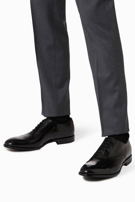 hover state of Brent Oxford Shoes in Leather