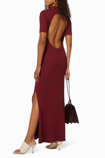 hover state of Sasha Cotton Knit Maxi Dress