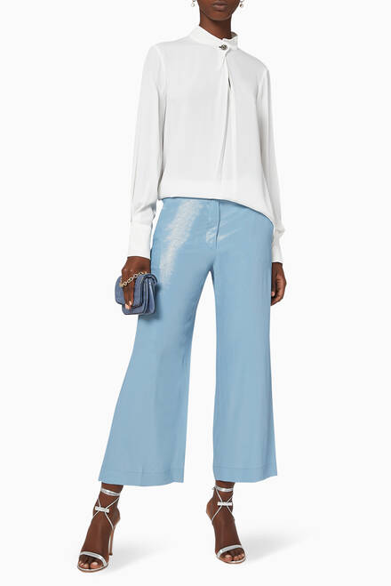 hover state of Harlem Laminated Silk Pants