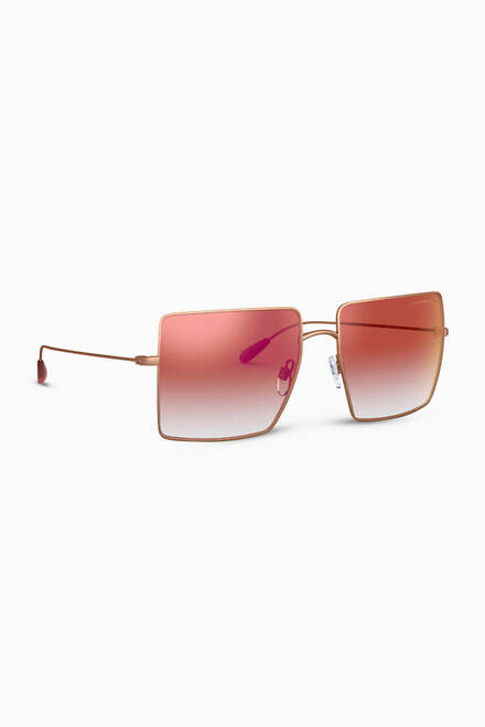 hover state of Oversized Square Frame Sunglasses