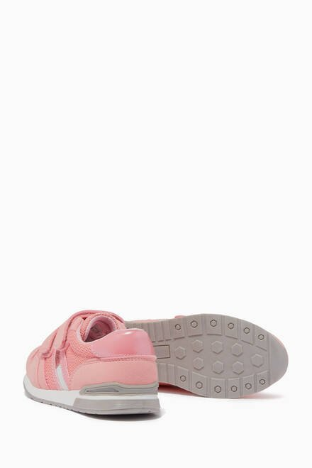 hover state of Glitter Low Top Velcro Sneakers in Synthetic