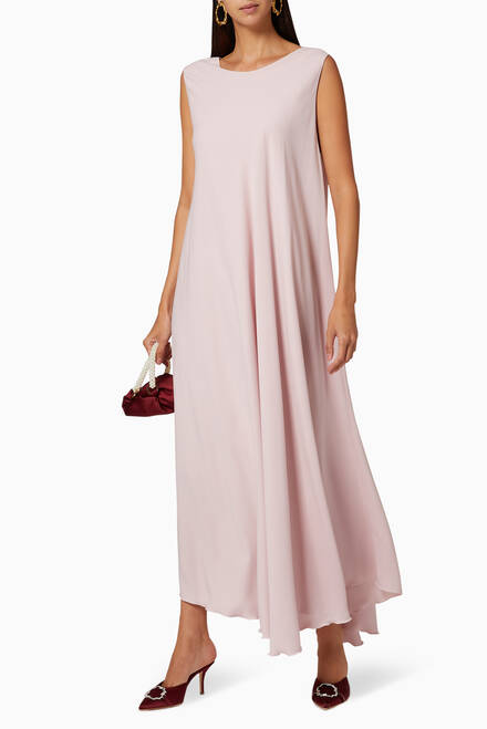 hover state of Flared Crepe Dress