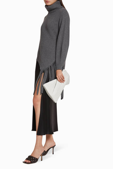 hover state of BV Crisscross Clutch in Padded Intrecciato Nappa