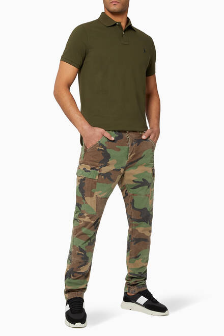 hover state of Classic Tapered Fit Cotton Cargo Pants