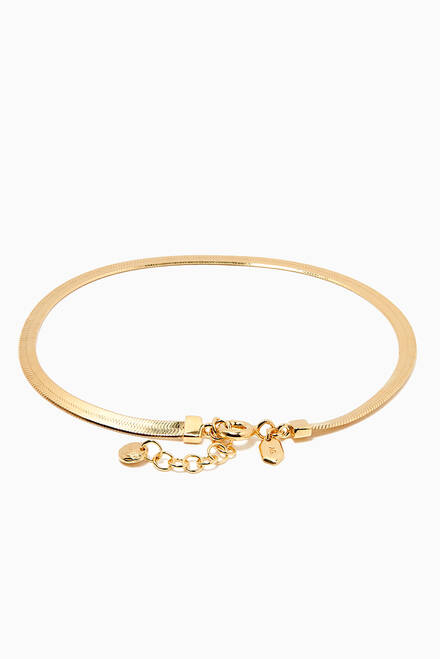 hover state of Sentiero Bracelet in Gold Plated Silver