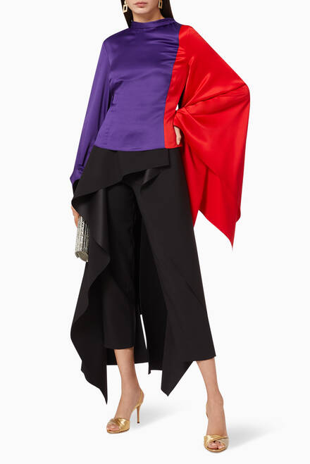 hover state of Ali Colour Block Satin Top