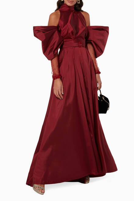 hover state of Nigella Silk Taffeta Dress