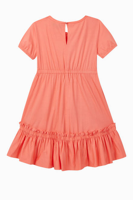 hover state of Ruffle Hem Jersey Dress
