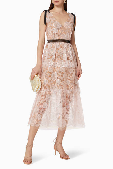 hover state of Starlet Rose Lace Dress