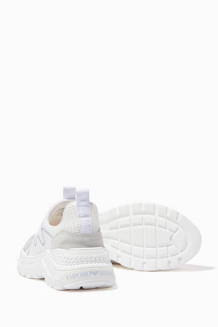 hover state of Chunky Sneakers in Mesh & Suede