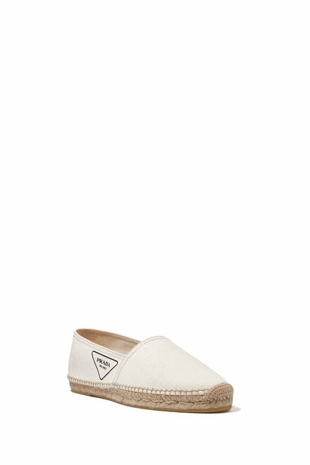hover state of Triangle Logo Espadrilles in Gabardine Fabric