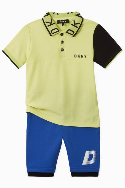 hover state of DKNY Logo Tape Jersey Shorts