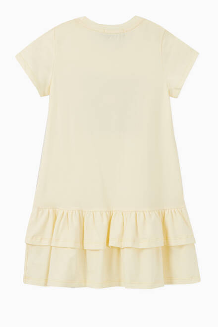 hover state of Square Logo Cotton Jersey Dress